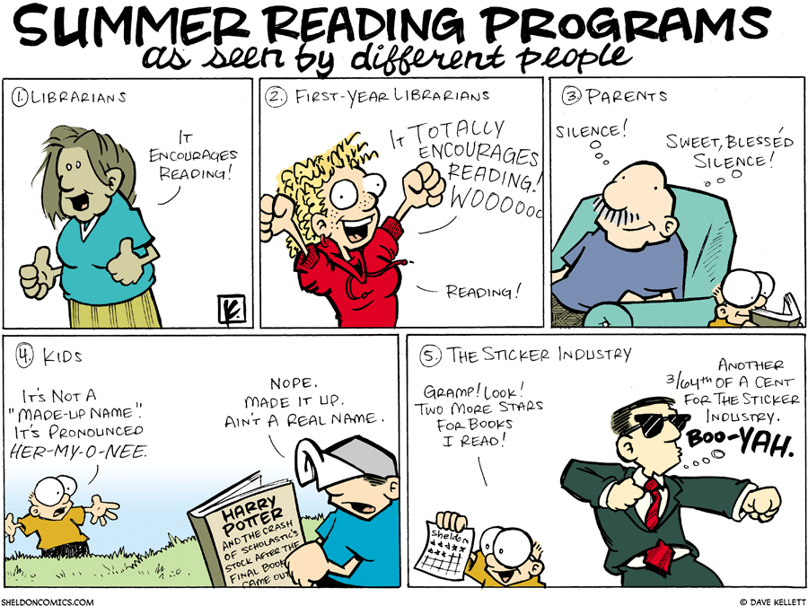 strip for June / 29 / 2008 - What does the summer reading program mean to you?