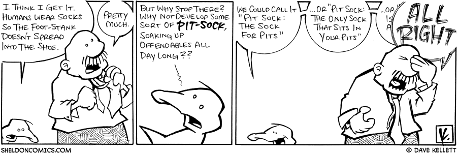 strip for July / 9 / 2008 - Why do humans wear socks?
