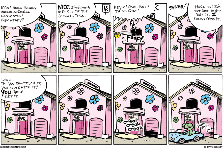 strip for July / 13 / 2008 - Where in the house are Arthur and Flaco?