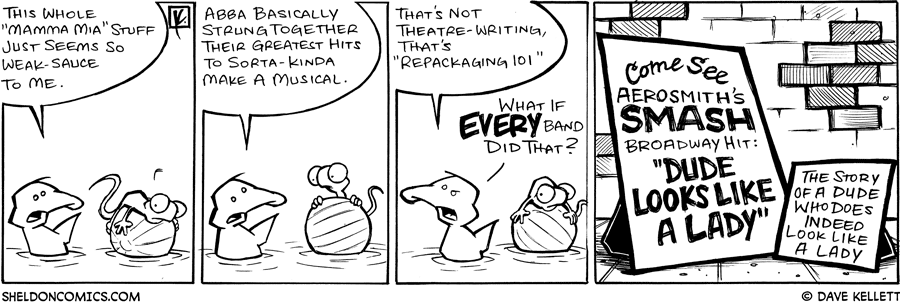 "strip for July / 21 / 2008 - Why doesn't Arthur approve of ""Mamma Mia?"""