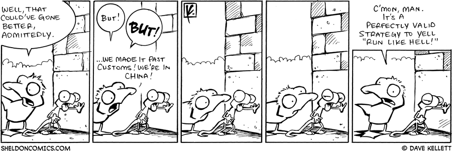 strip for August / 8 / 2008 - How does Arthur get Flaco and himself thorugh customs?