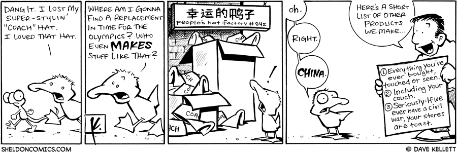 strip for August / 9 / 2008 - Will Arthur get a new hat?