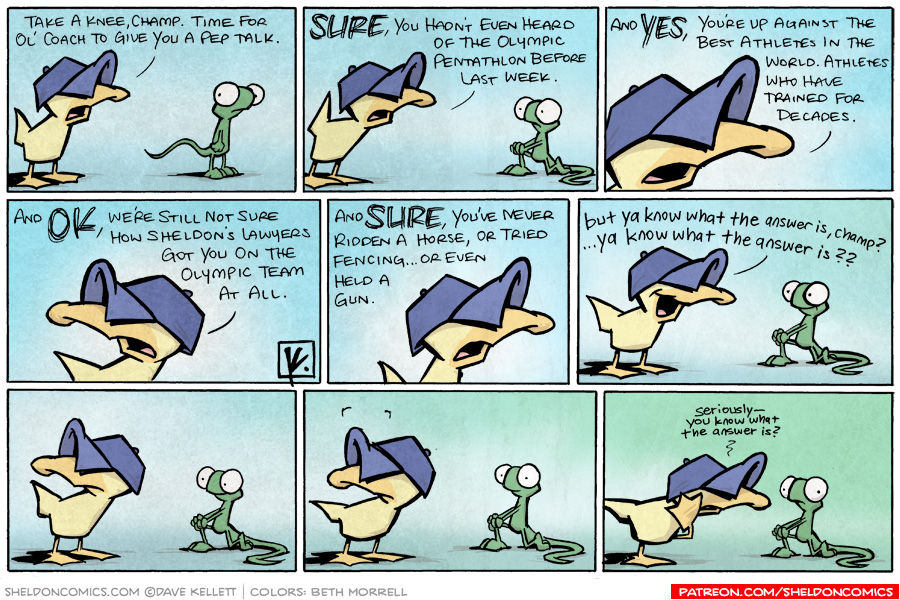 strip for August / 12 / 2008 - Is it time for a pep talk?