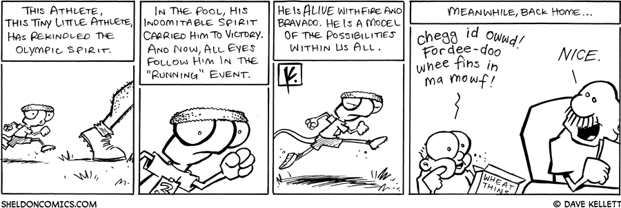 strip for August / 18 / 2008 - Flaco begins...