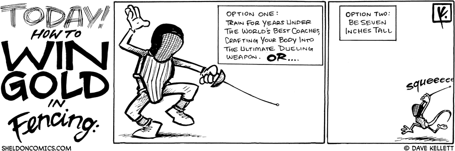 strip for August / 25 / 2008 - How do you win Gold in Fencing?
