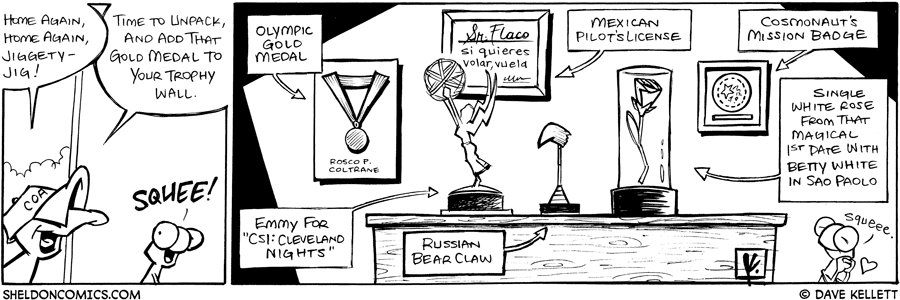 strip for August / 29 / 2008 - What does Flaco's trophy wall look like?