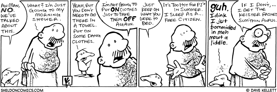 strip for August / 30 / 2008 - Haven't we talked about this?