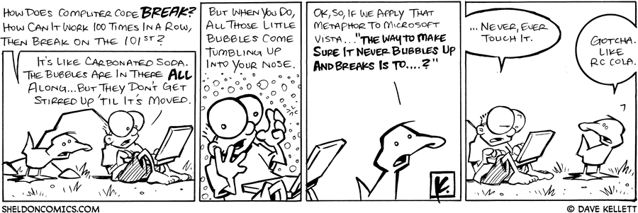 strip for September / 2 / 2008 - How does Computer code break?