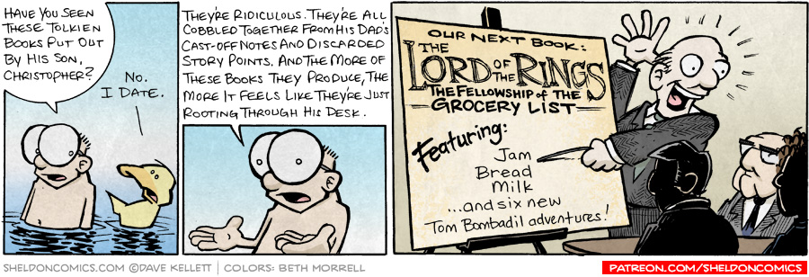 strip for September / 8 / 2008 - Have you seen these Tolkien books put out by his son?
