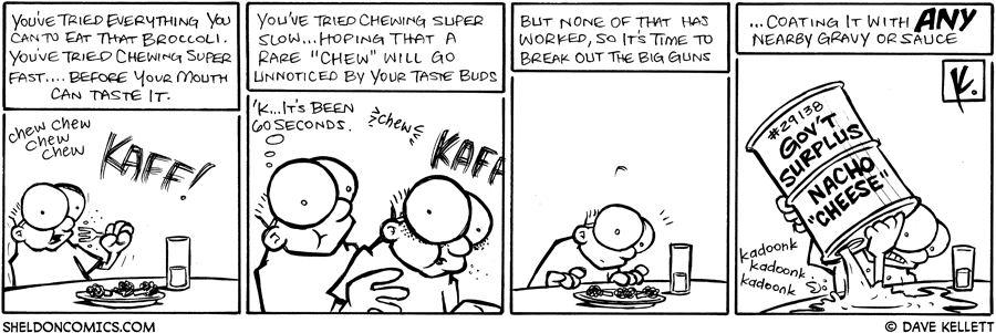 strip for September / 15 / 2008 - How do you eat this broccali?