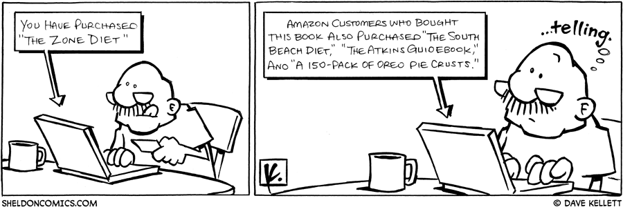 strip for September / 16 / 2008 - What does Gramp purchase online?