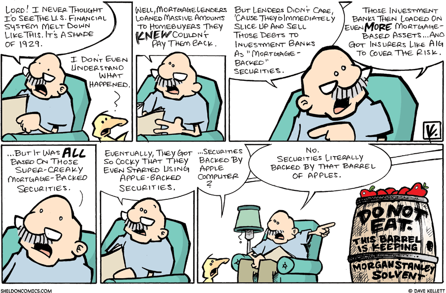 strip for September / 21 / 2008 - What happened to the U.S. Financial system?