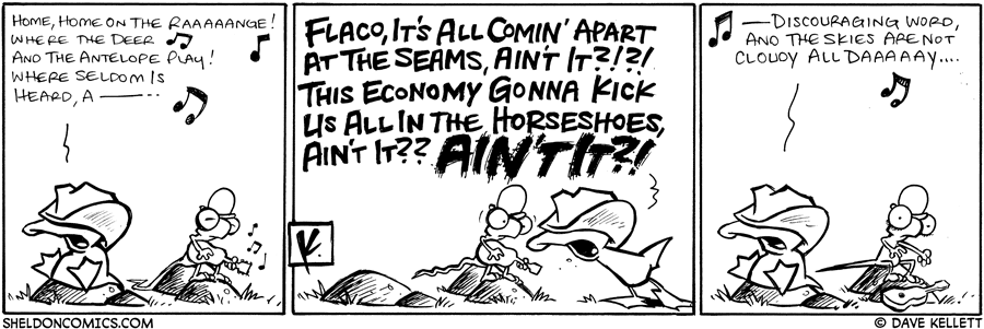 strip for September / 25 / 2008 - Arthur sings a cowboy song and Flaco...