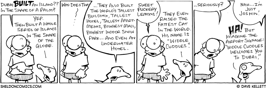 strip for October / 2 / 2008 - What has Dubai done?