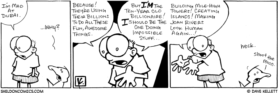 strip for October / 3 / 2008 - Why is Sheldon mad?