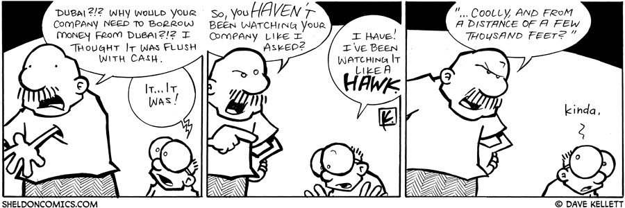 strip for October / 4 / 2008 - Why is Gramp angry at Sheldon?