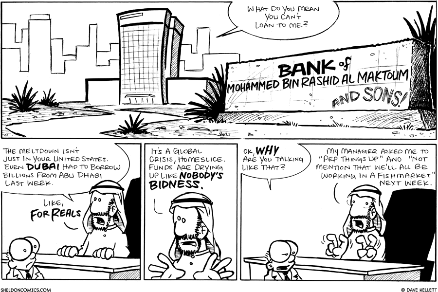 strip for October / 10 / 2008 - Will Sheldon be able to get the money?