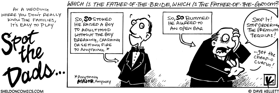 strip for October / 18 / 2008 - How do you spot the Dads at a wedding?