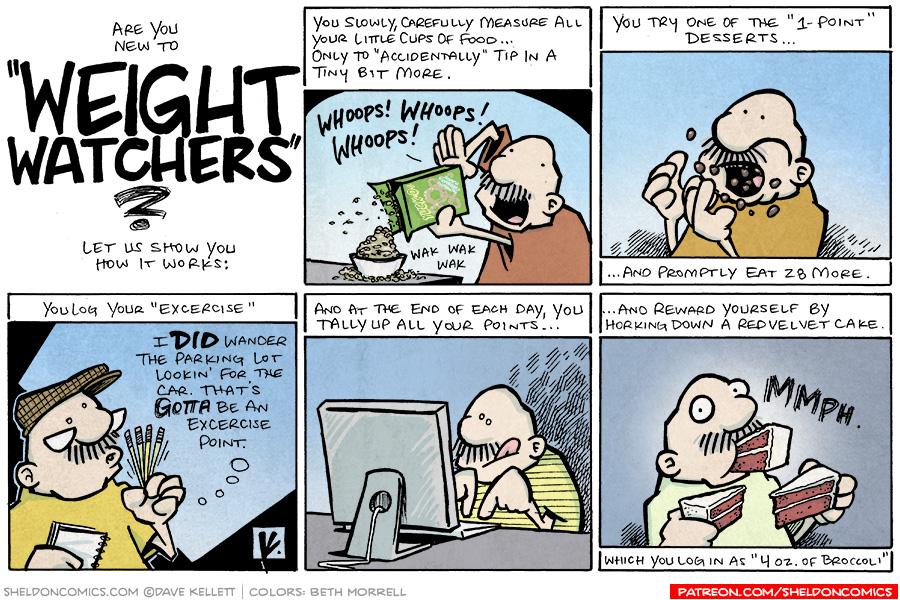 strip for October / 19 / 2008 - How does Weight Watchers work?