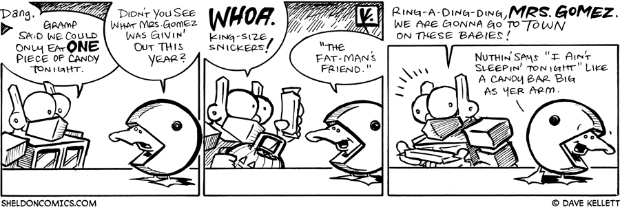 strip for November / 1 / 2008 - Sheldon can only have one candy bar so he chooses...