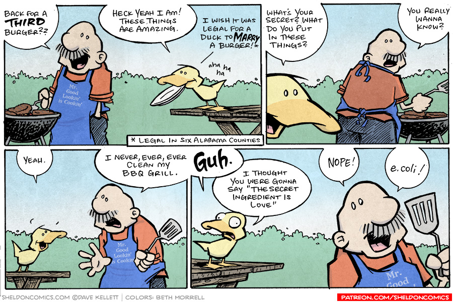 strip for November / 2 / 2008 - What's your secret to these great burgers?
