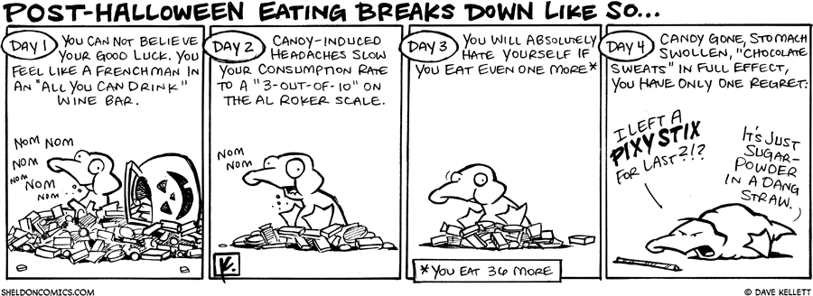 strip for November / 4 / 2008 - What does post-Halloween eating look like?
