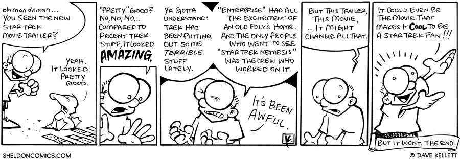 strip for November / 18 / 2008 - Have you seen the new Star Trek movie trailer?