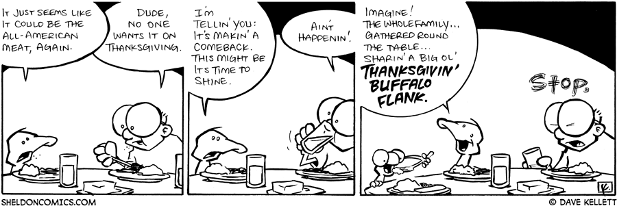 strip for November / 27 / 2008 - What is the All-American Meat?