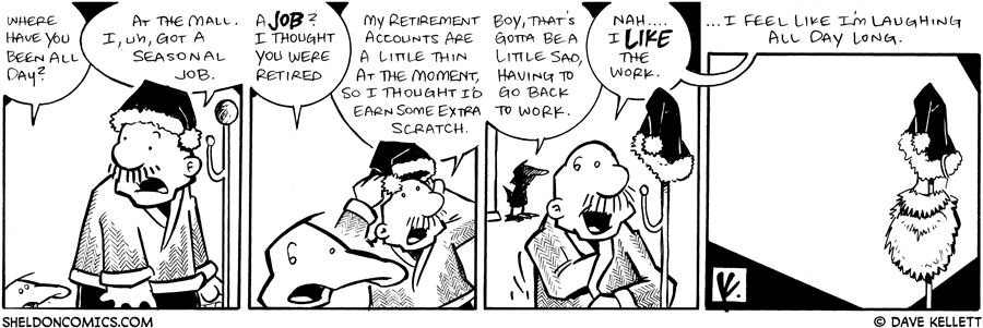 strip for December / 17 / 2008 - Where have you been all day Gramp?
