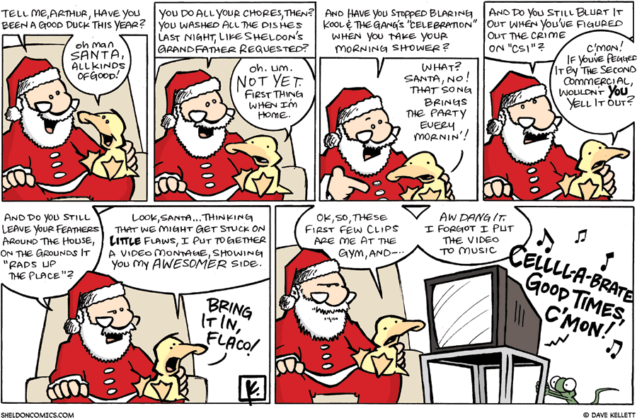 strip for December / 21 / 2008 - Has Arthur been a good duck this year?