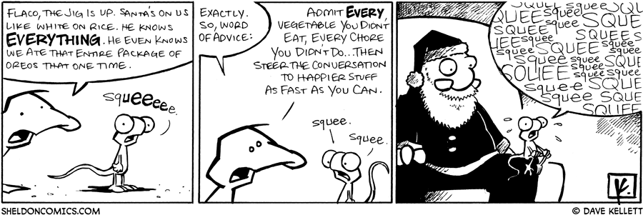 strip for December / 23 / 2008 - What does Arthur say to Falco before he meets Santa?