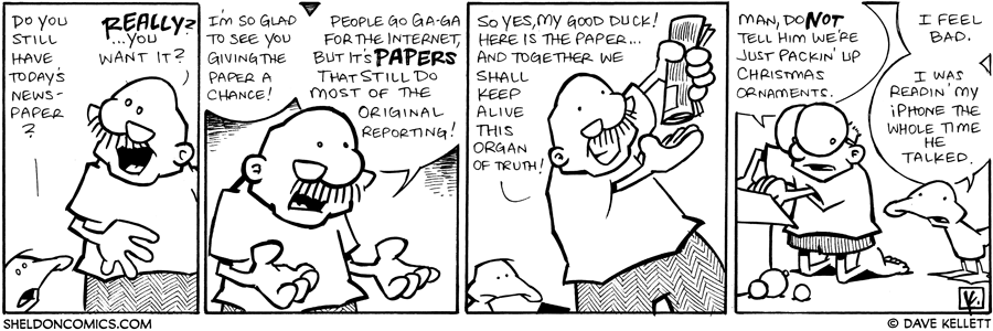strip for December / 30 / 2008 - Do you still have today's newspaper?