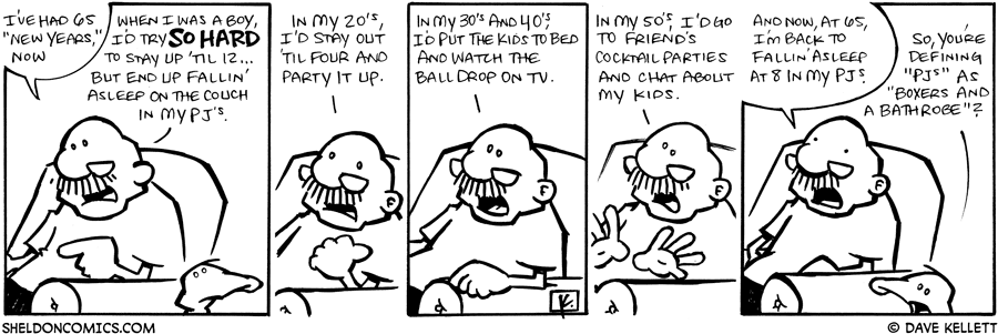 strip for January / 3 / 2009 - What does Gramp do for New Years?