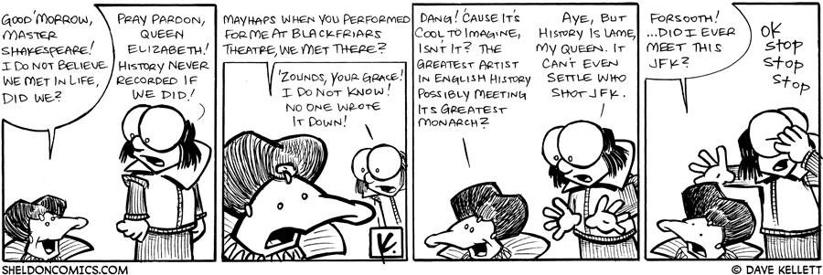 strip for January / 5 / 2009 - Did we ever meet in life?
