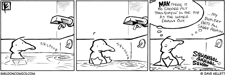 strip for January / 9 / 2009 - How does Arthur feel about the tub draining?