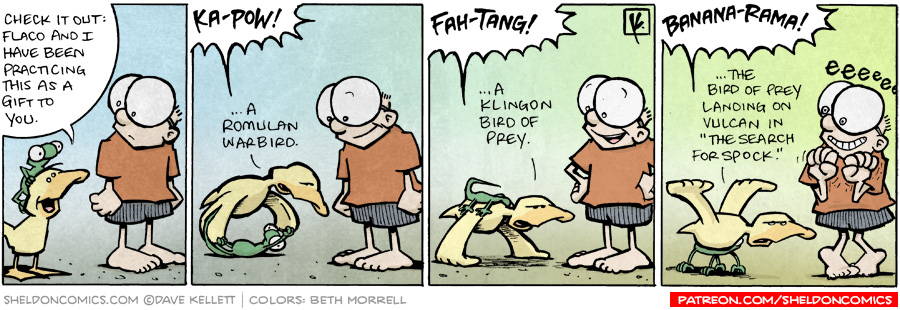 strip for January / 19 / 2009 - What is Arthur and Flaco's gift to Sheldon?