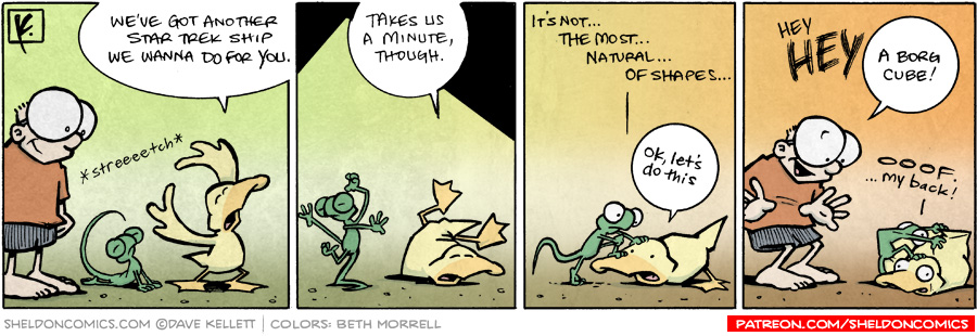 strip for January / 20 / 2009 - Arthur and Flaco have another ship for Sheldon and it is...