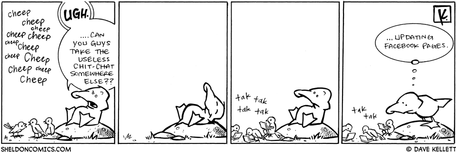 strip for January / 26 / 2009 - Can you guys take the chit-chat somwhere else?