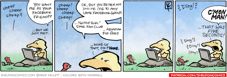 strip for January / 27 / 2009 - You want me as your Facebook friend?