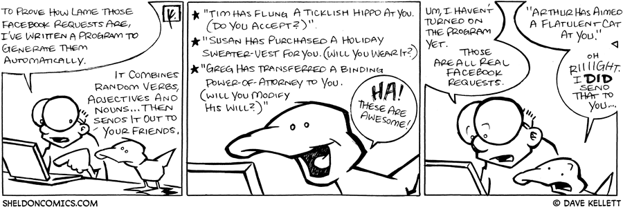 strip for January / 28 / 2009 - Look what Sheldon did!