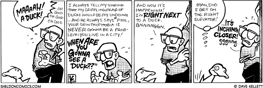 strip for February / 4 / 2009 - Who is this guy afraid of?