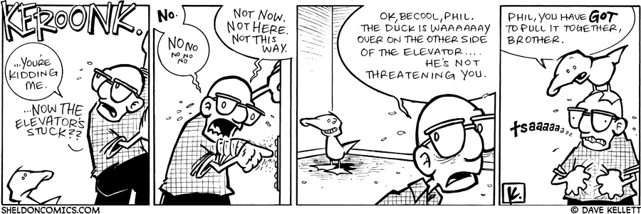 strip for February / 5 / 2009 - What happens in the elevator?