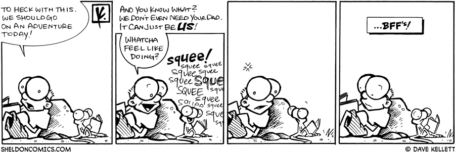strip for February / 9 / 2009 - To heck with this. We should...