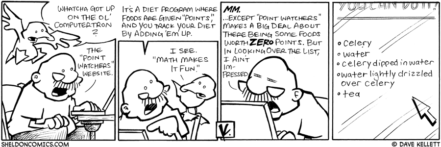 strip for February / 10 / 2009 - Whatcha got up on the ol' computertron?