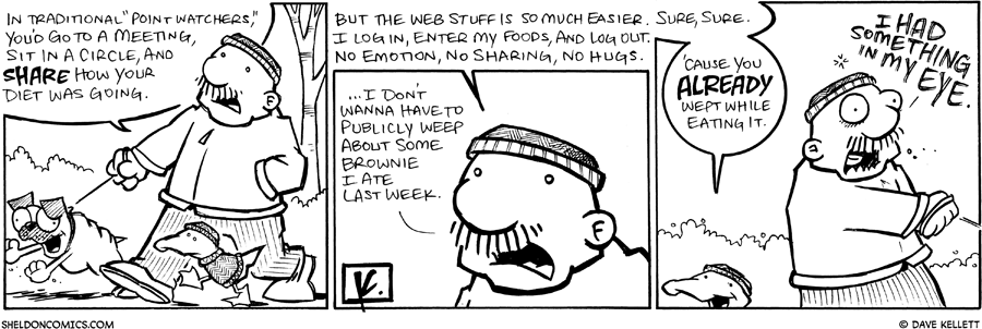 strip for February / 11 / 2009 - What does Gramps think about Point Watchers?