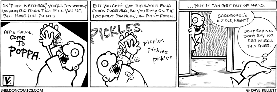 strip for February / 12 / 2009 - What is Gramp's eating?
