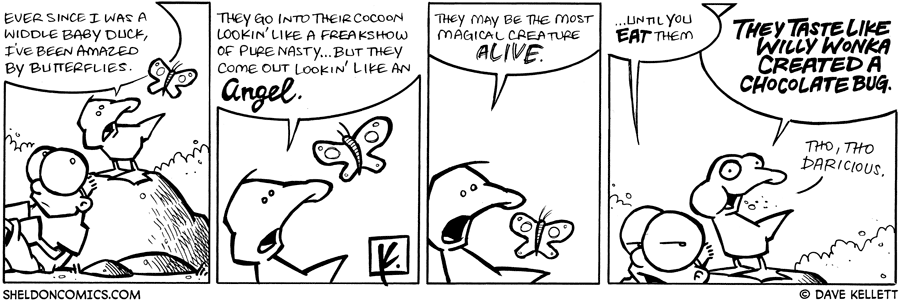 strip for February / 18 / 2009 - Every since he was a widdle baby duck, Arthur's been amazed by...