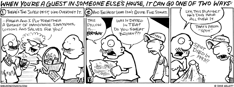 strip for February / 26 / 2009 - What happens when you're a guest in someone else's house?