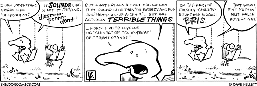 strip for March / 2 / 2009 - What words can't Arthur understand?