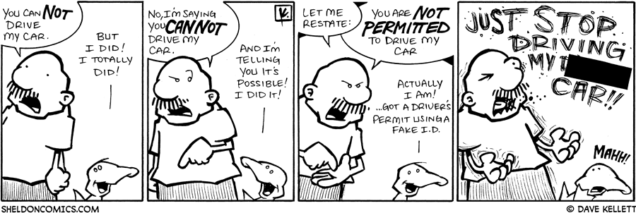 strip for March / 4 / 2009 - What is Gramp so angry about?